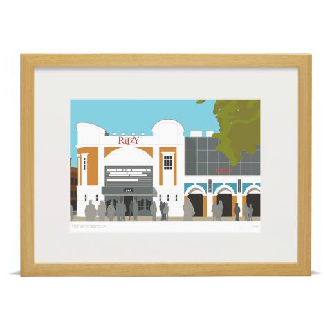 Place in Print The Ritzy Brixton Art Print Wood Frame