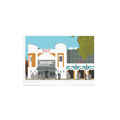 Place in Print The Ritzy Brixton Art Print Unframed
