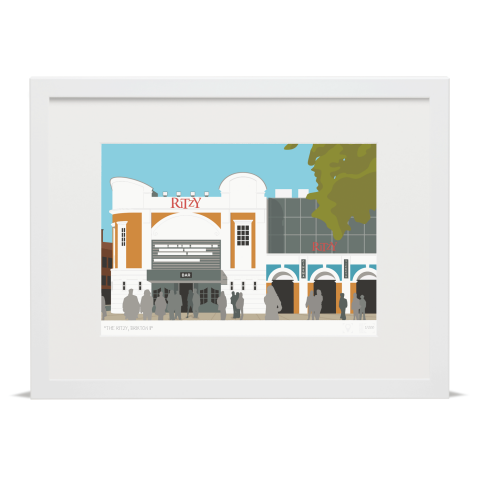Place in Print The Ritzy Brixton Art Print White Frame
