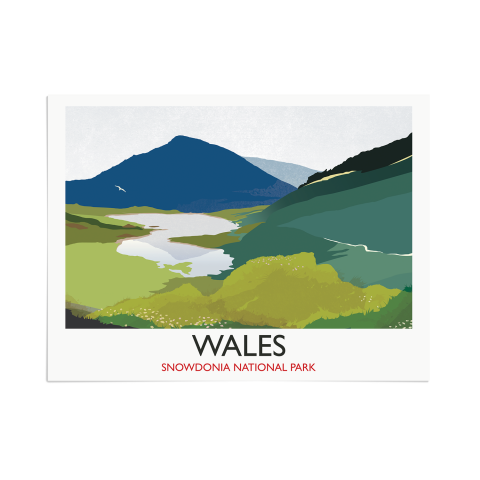 Place in Print Rick Smith Wales02 Travel Poster Art Print 30x40cm Print-only