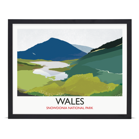 Place in Print Rick Smith Wales02 Travel Poster Art Print 40x50cm Black Frame