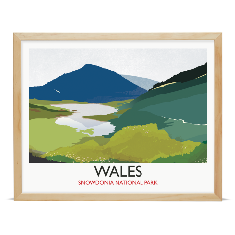 Place in Print Rick Smith Wales02 Travel Poster Art Print 40x50cm Wood Frame