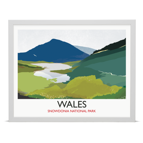 Place in Print Rick Smith Wales02 Travel Poster Art Print 40x50cm White Frame