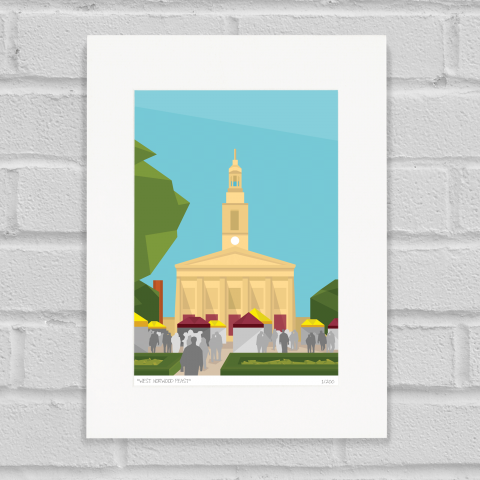 Place in Print West Norwood Feast Art Poster Print Mounted