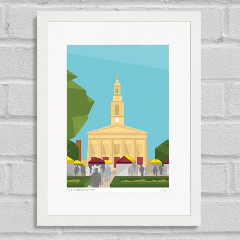 Place in Print West Norwood Feast Art Poster Print White Frame