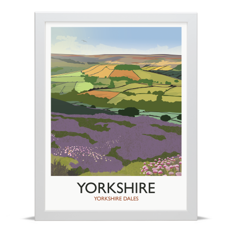 Place in Print Rick Smith Yorkshire Travel Poster Art Print 30x40cm White Frame