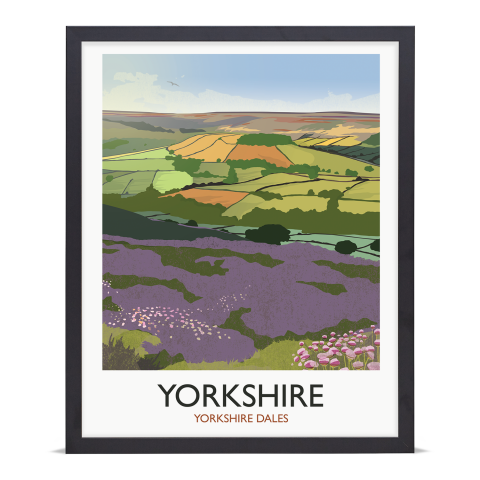 Place in Print Rick Smith Yorkshire Travel Poster Art Print 40x50cm Black Frame