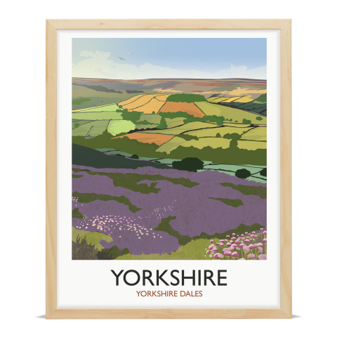 Place in Print Rick Smith Yorkshire Travel Poster Art Print 40x50cm Wood Frame