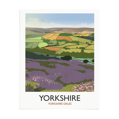 Place in Print Rick Smith Yorkshire Travel Poster Art Print 40x50cm Print-only