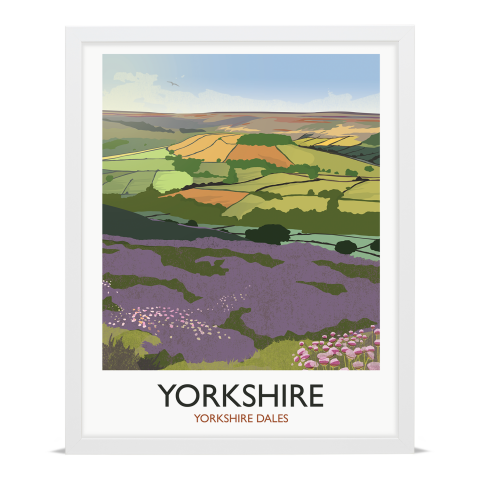 Place in Print Rick Smith Yorkshire Travel Poster Art Print 40x50cm White Frame