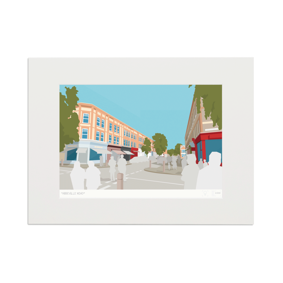 Place in Print Abbeville Road Clapham SW4 Art Print Mounted