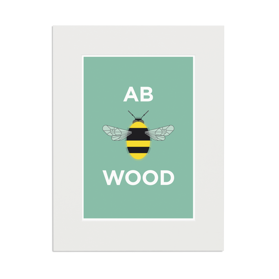 Place in Print Pate Abbey Wood Neighbourhood Pun Art Print Mounted