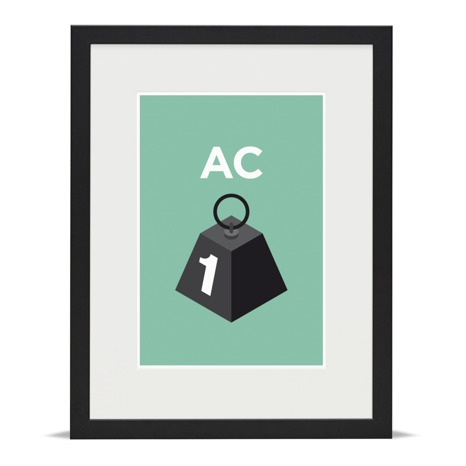 Place in Print Pate Acton Neighbourhood Pun Art Print Black Frame