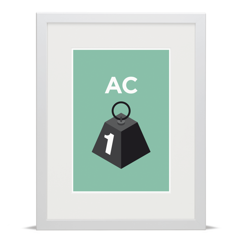 Place in Print Pate Acton Neighbourhood Pun Art Print White Frame