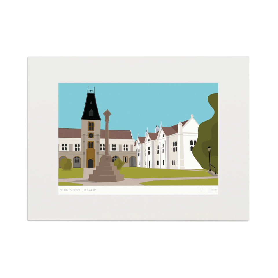 Place in Print Christ's Chapel Dulwich London Art Print Mounted