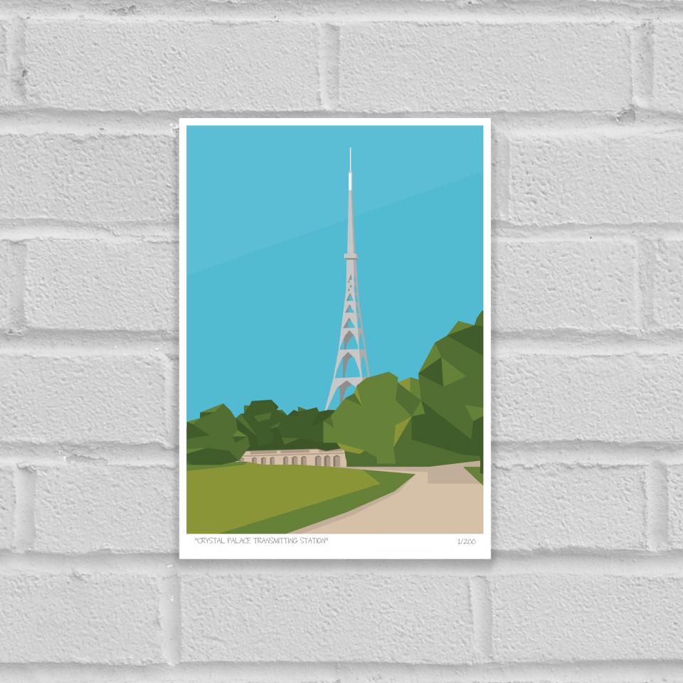 Place in Print Crystal Palace Transmitter Antenna Art Poster Print Unframed