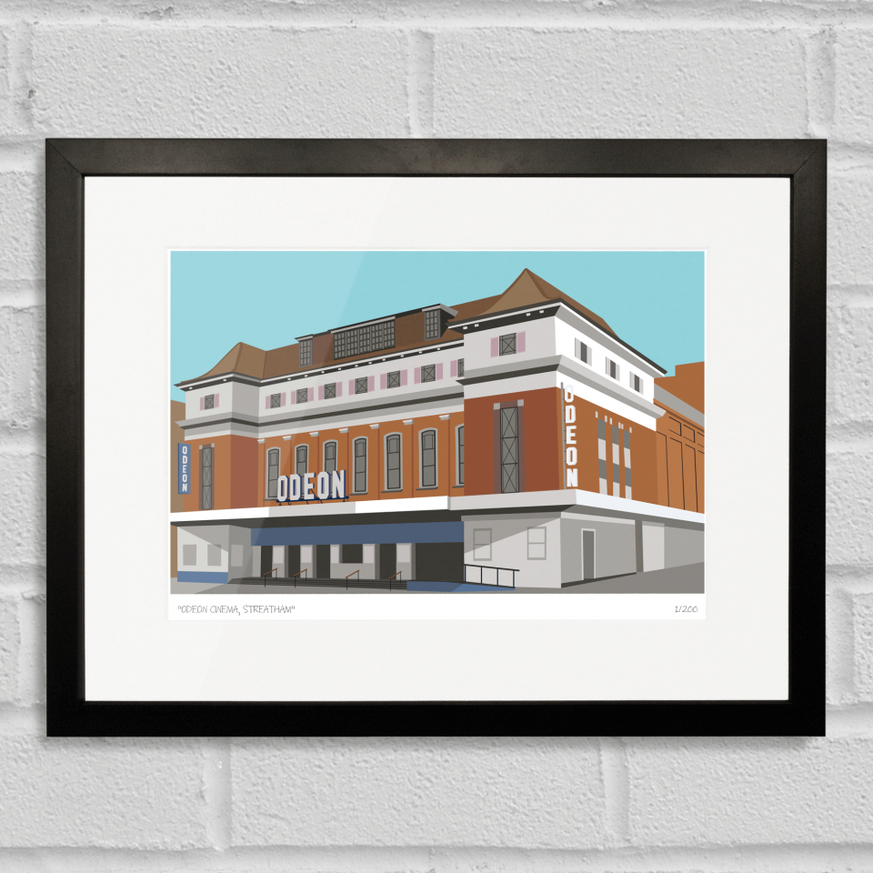 Place in Print Odeon Cinema Streatham Art Poster Print Black Frame