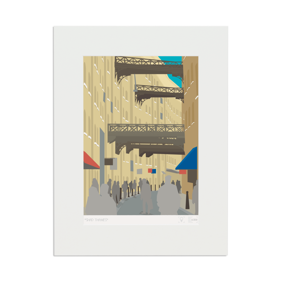 Place in Print Shad Thames London Bridge Banner Art Poster Print Mounted