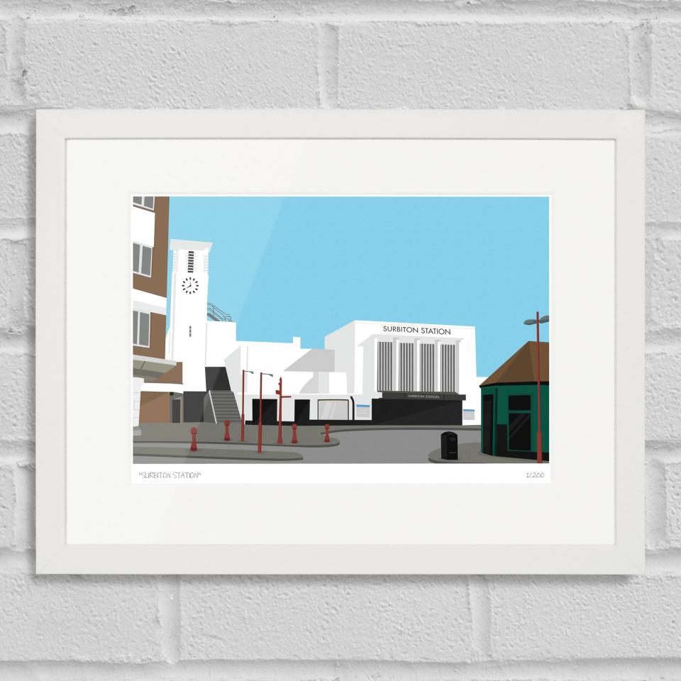Surbiton Station Limited Edition Giclée Art Print   London Art ...