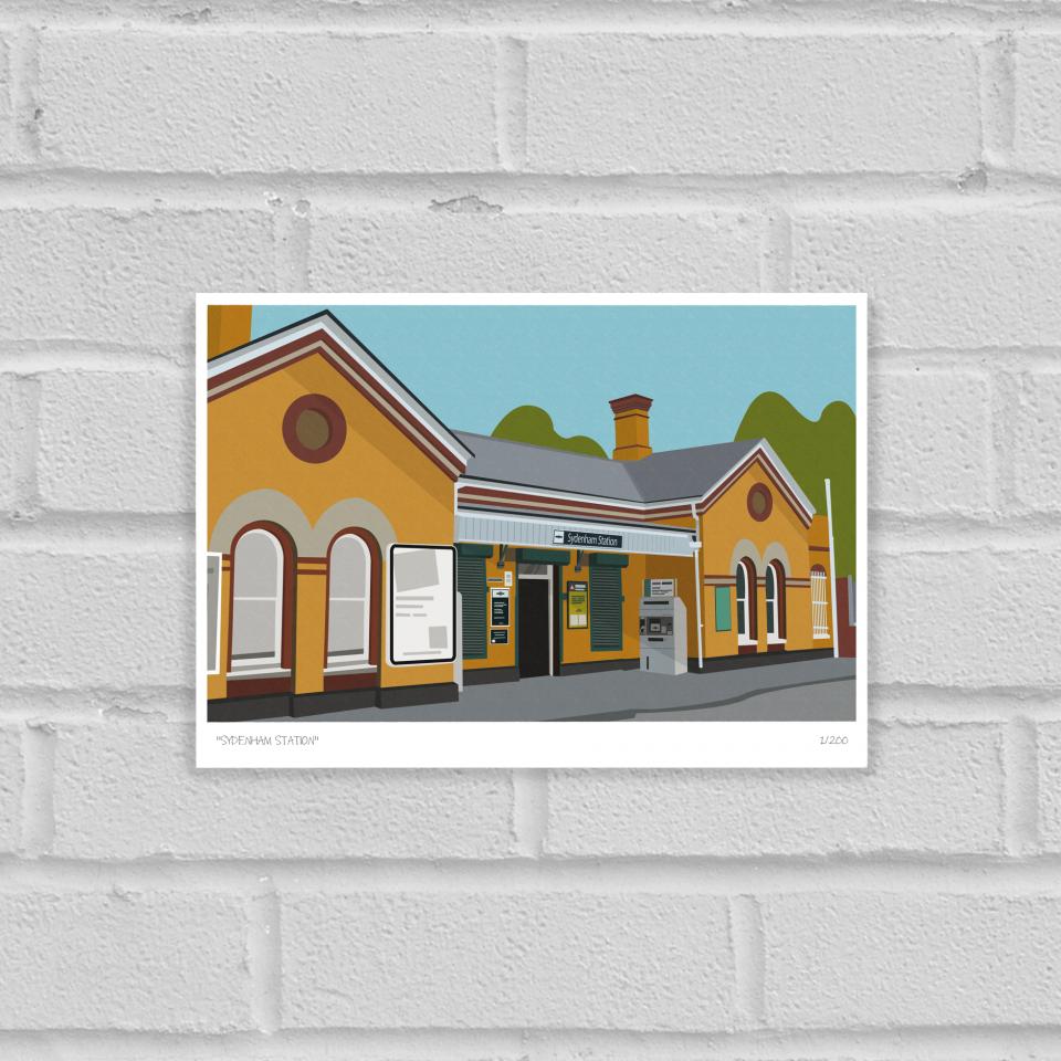 Sydenham Station Art Poster Print Unframed