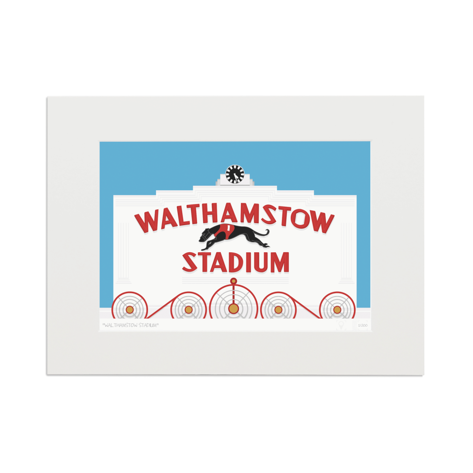 Place in Print Walthamstow Stadium Art Poster Print Mounted