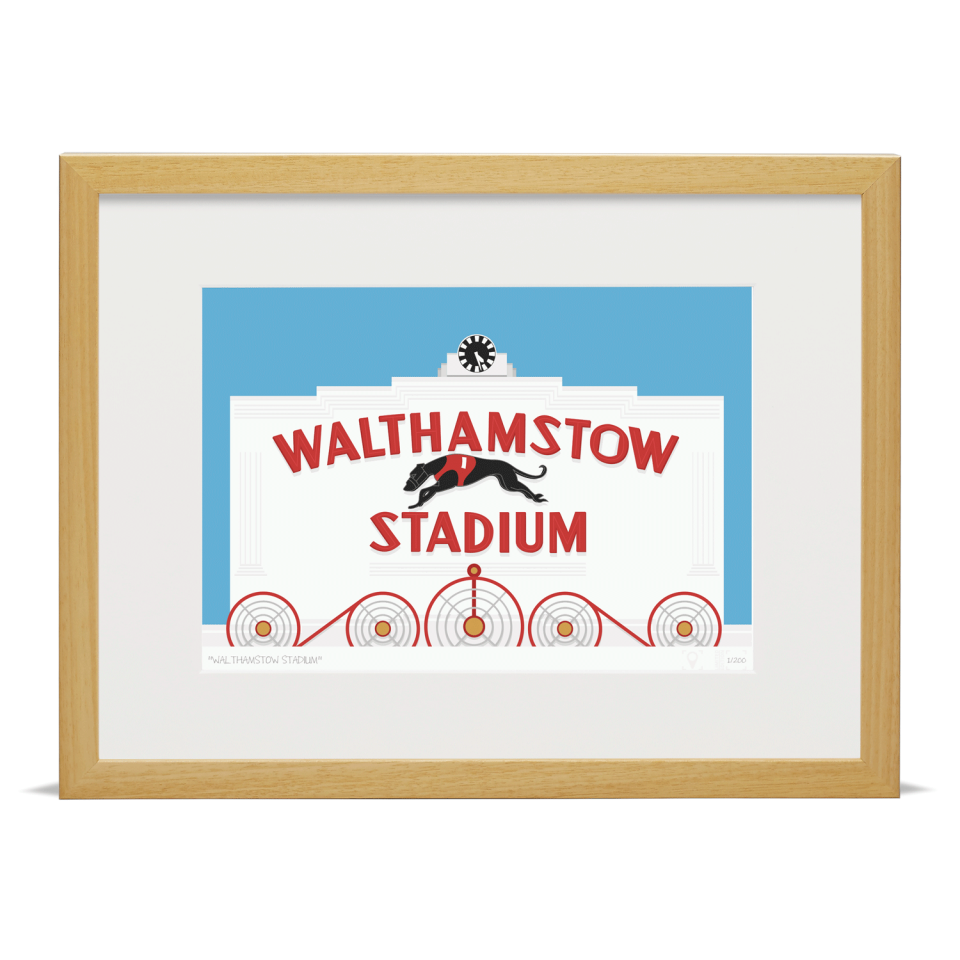 Place in Print Walthamstow Stadium Art Poster Print Wood Frame