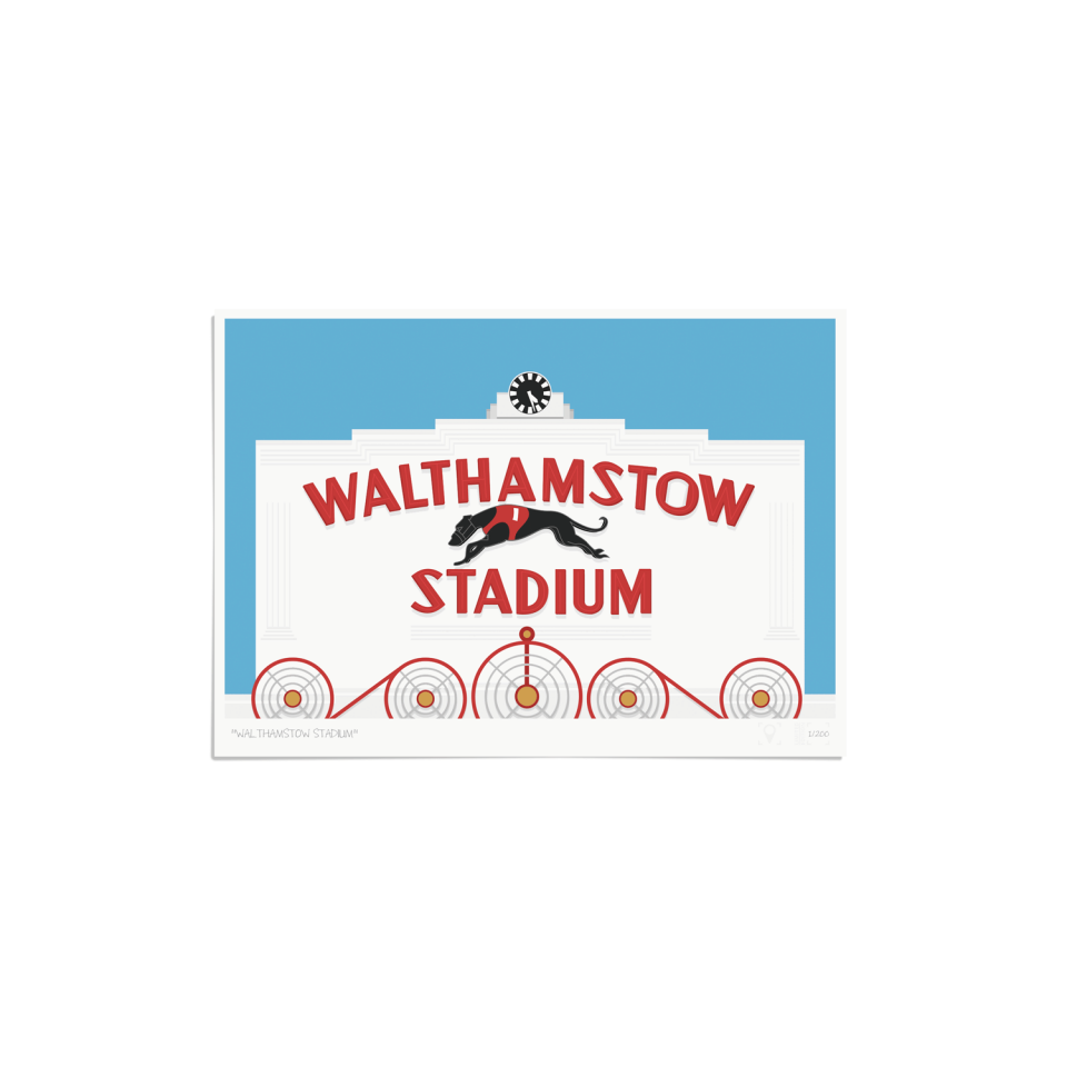 Place in Print Walthamstow Stadium Art Poster Print Unframed