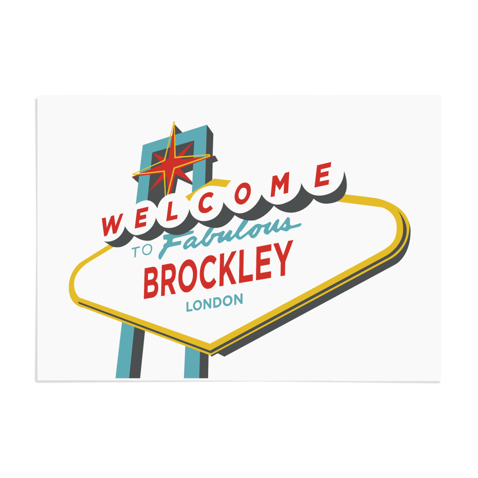 Place in Print Welcome to Brockley Vegas Sign Art Print Unframed