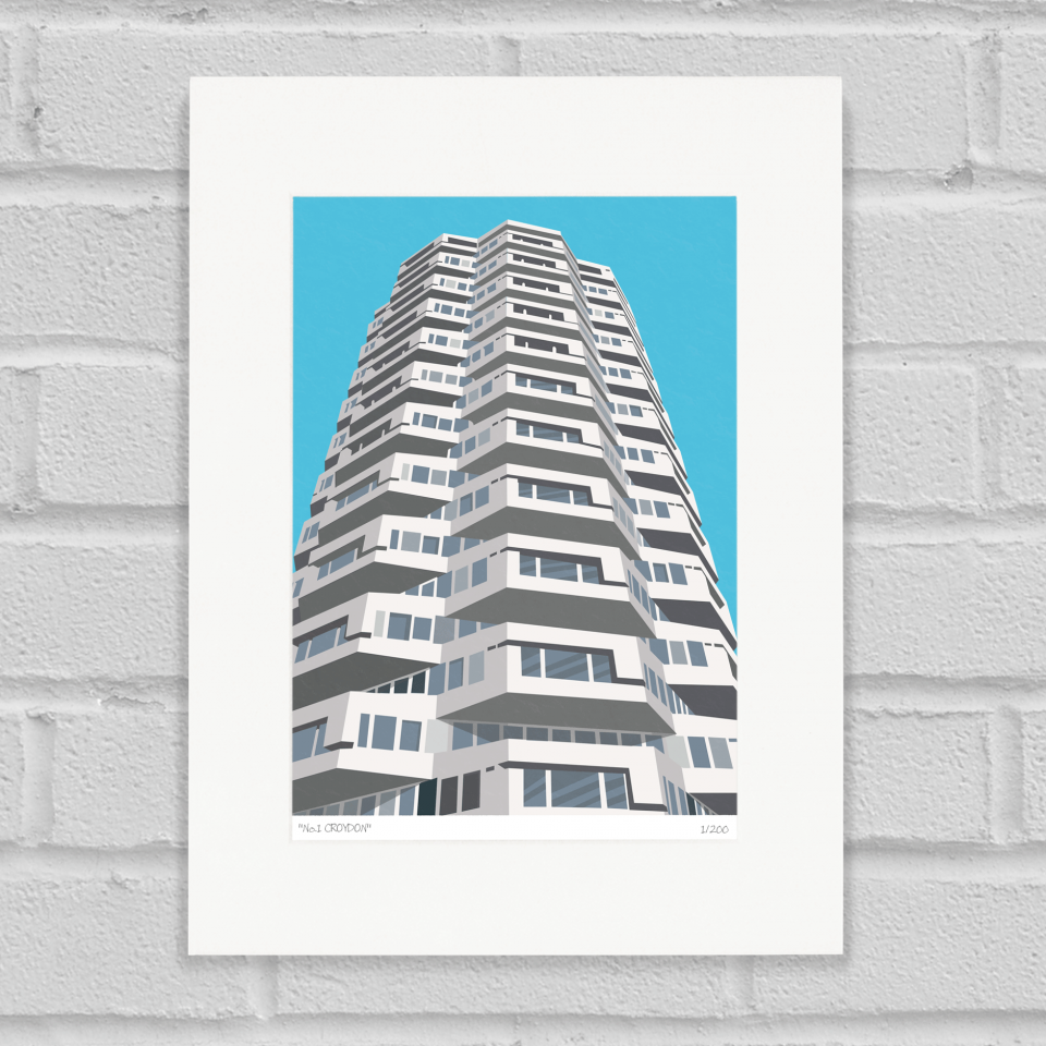 Place in Print No1 Croydon Art Poster Print Mounted