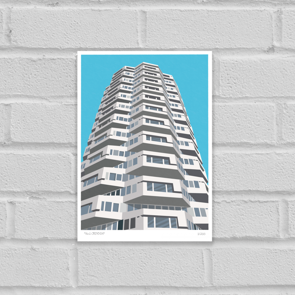 Place in Print No1 Croydon Art Poster Print Unframed