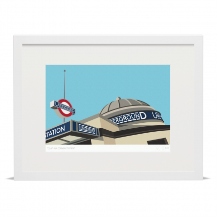 Place in Print South London Prints Clapaham Common Tube Station Art Print