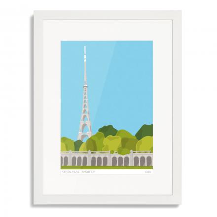 Crystal Palace Transmitter Art Poster Print