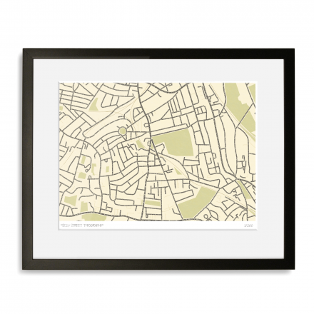 West Norwood Street Typography Map Art Poster Print