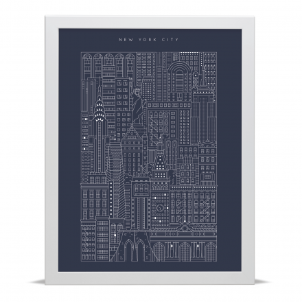 Place in Print The City Works New York Blueprint Art Print
