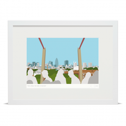 Place in Print View from the Roof Peckham Art Poster Print