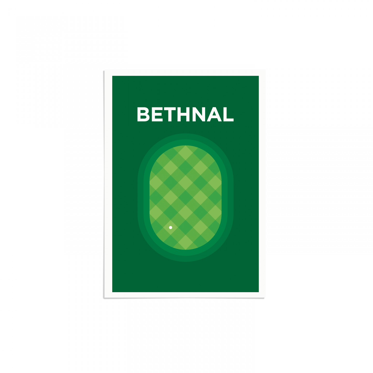 Place in Print Bethnal Green Pate Neighbourhood Pun Art Print Unframed