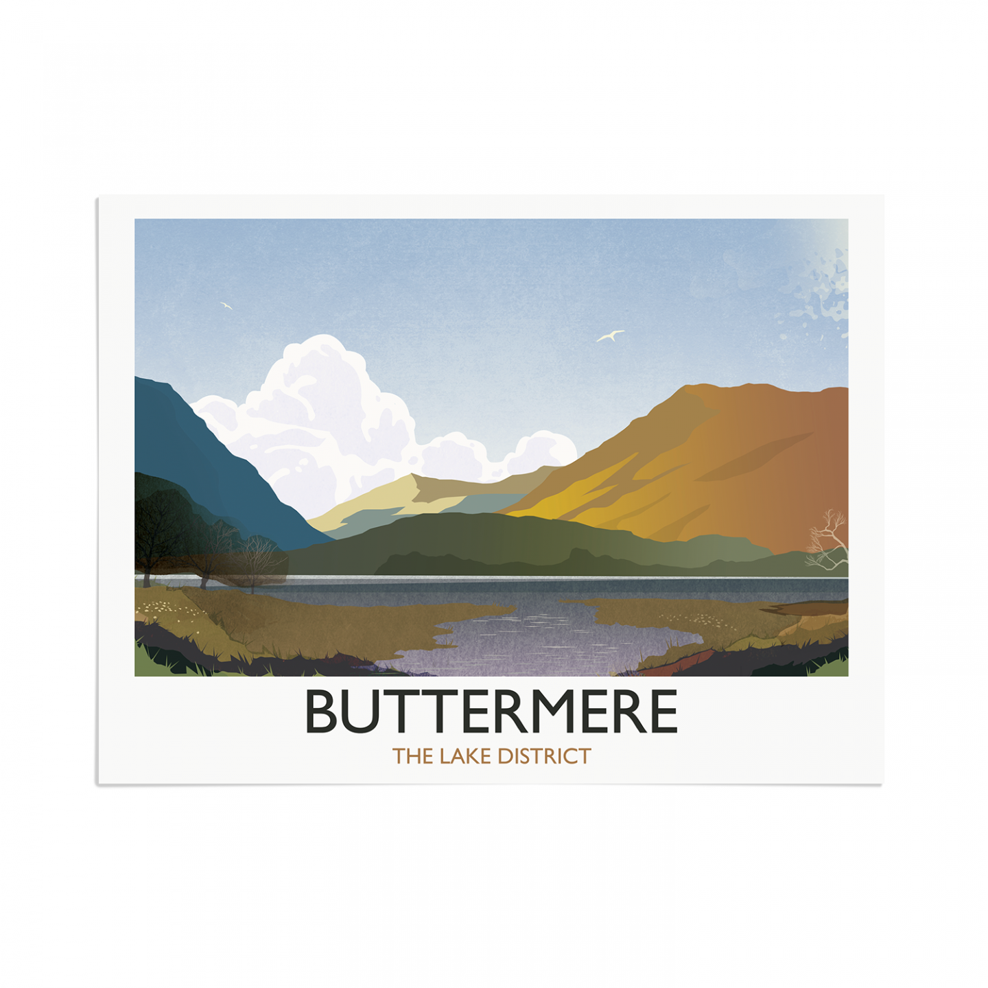 Place in Print Rick Smith Buttermere Travel Poster Art Print 30x40cm Print-only