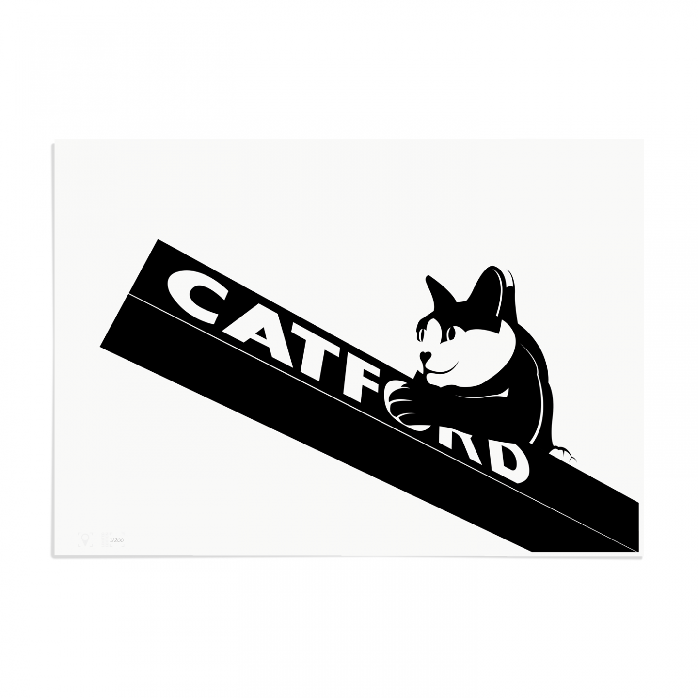 Place in Print Catford Cat 2 SE6 Art Print Unframed