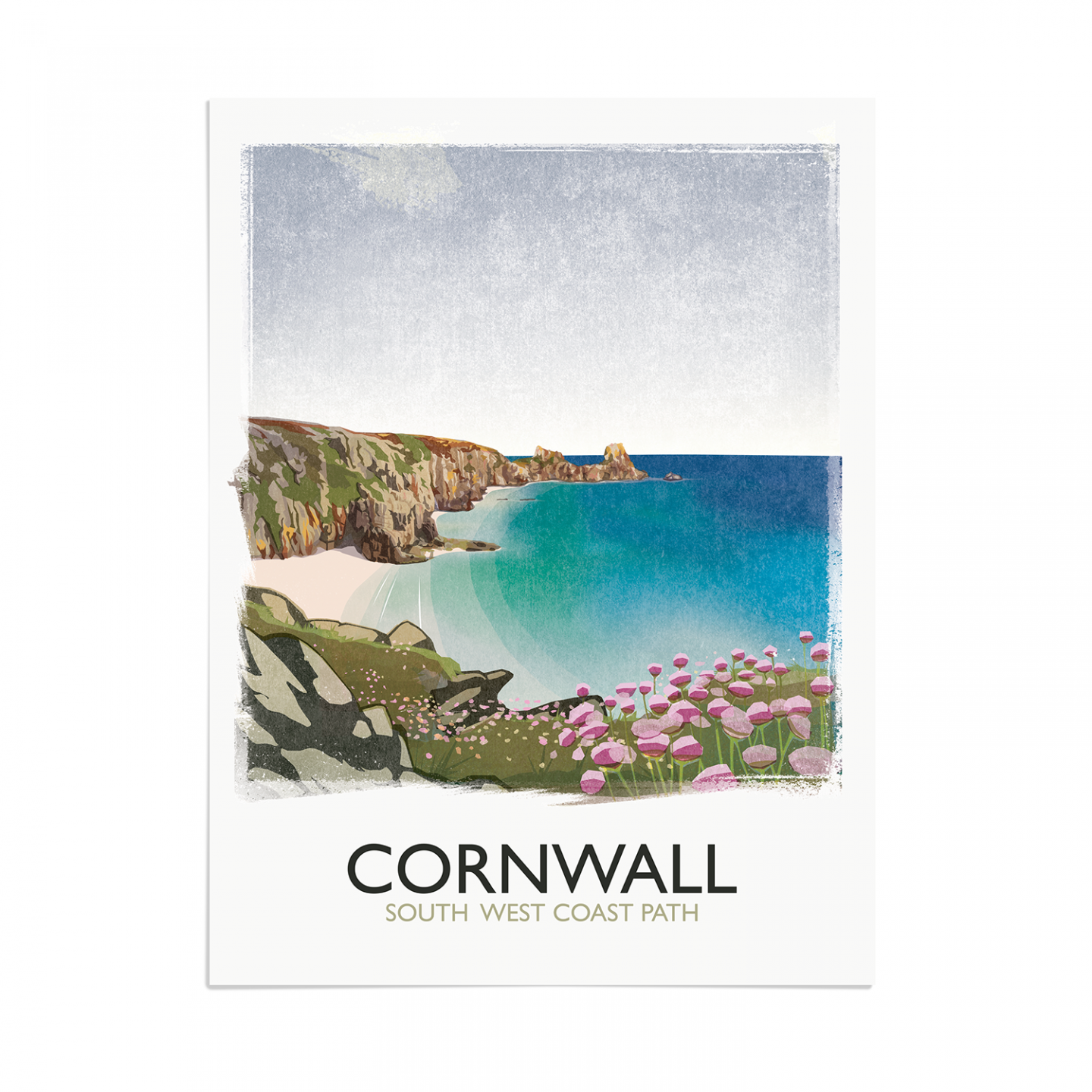 Place in Print Rick Smith Cornwall01 Travel Poster Art Print 30x40cm Print-only