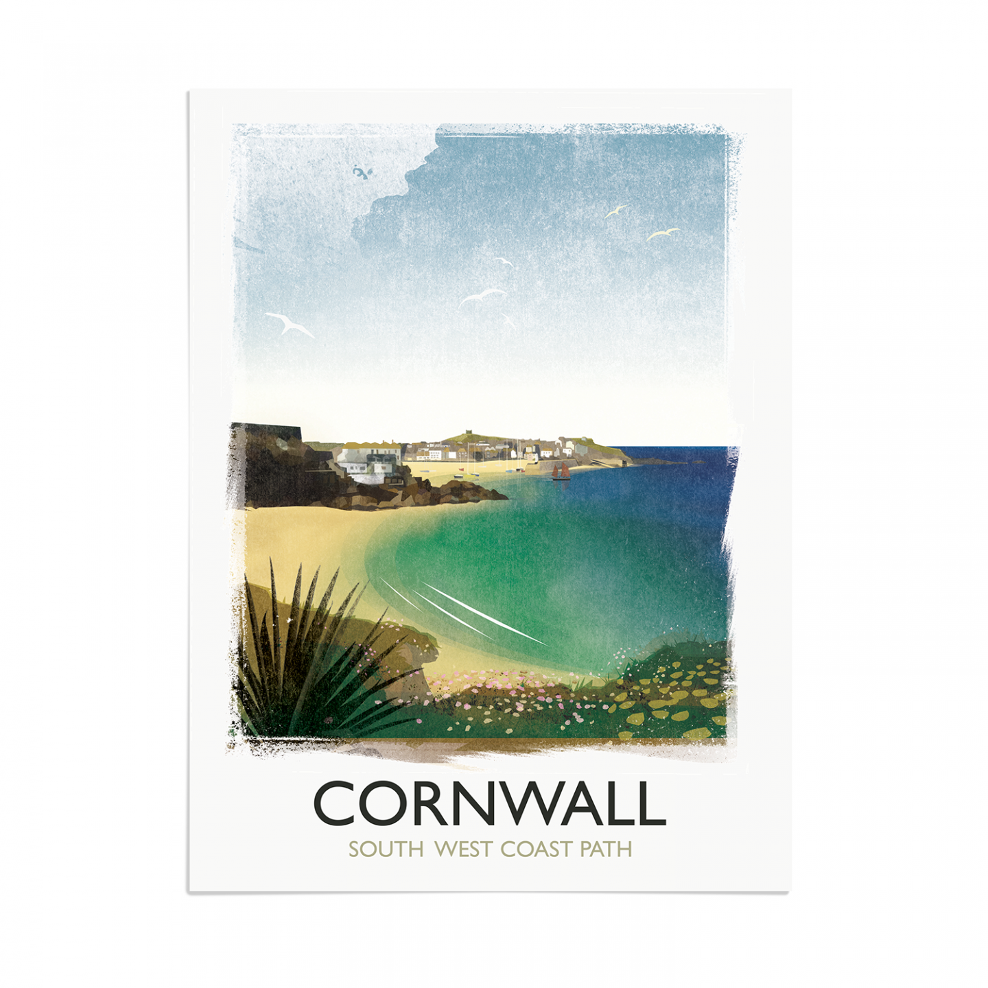 Place in Print Rick Smith Cornwall03 Travel Poster Art Print 30x40cm Print-only