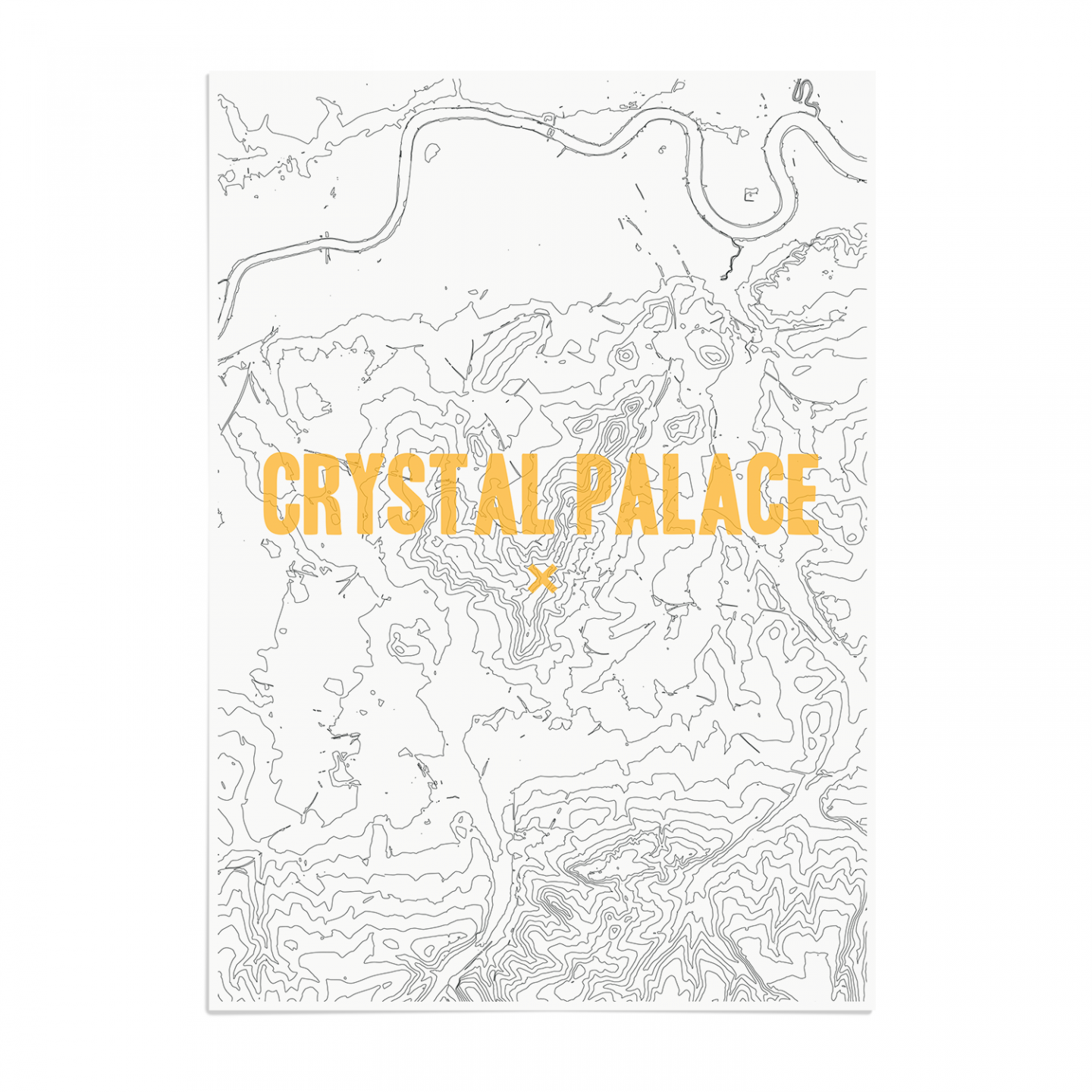 Place in Print Crystal Palace Contours Gold Art Print Unframed