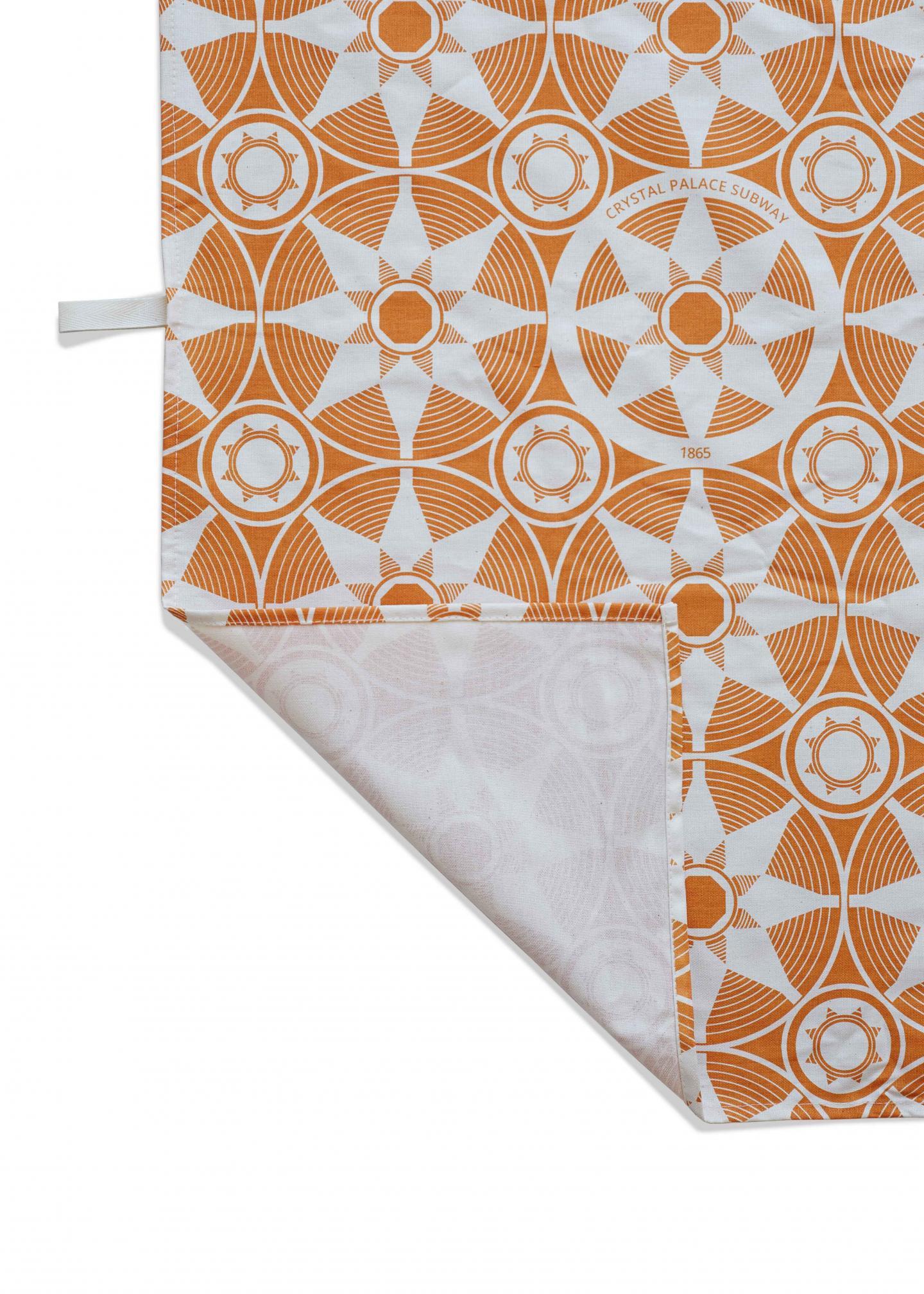 Place in Print Crystal Palace Subway Tea Towel Orange