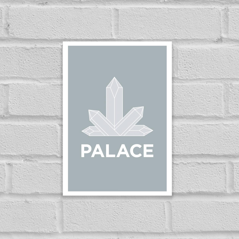 Pate Crystal Palace Neighbourhood Pun Art Poster Print Unframed