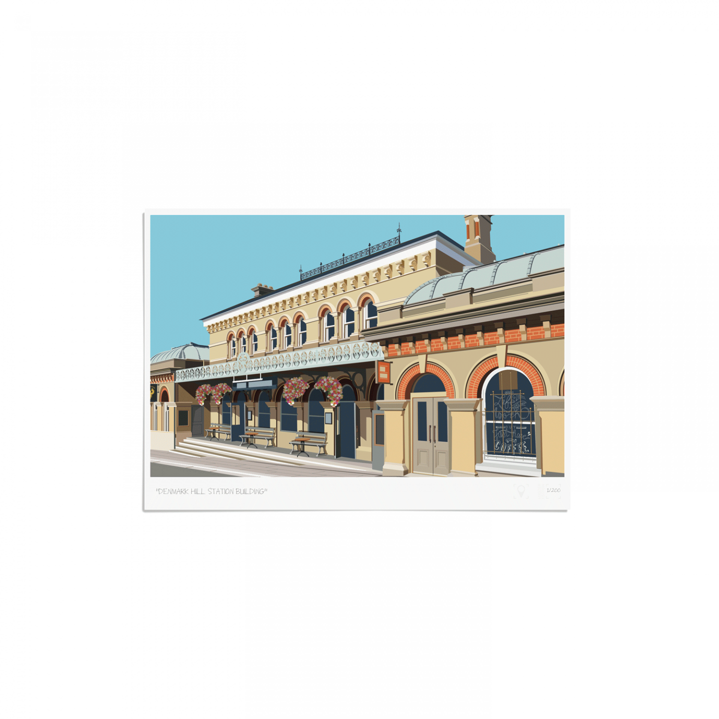 Place in Print Denmark Hill Station Building Art Print Unframed