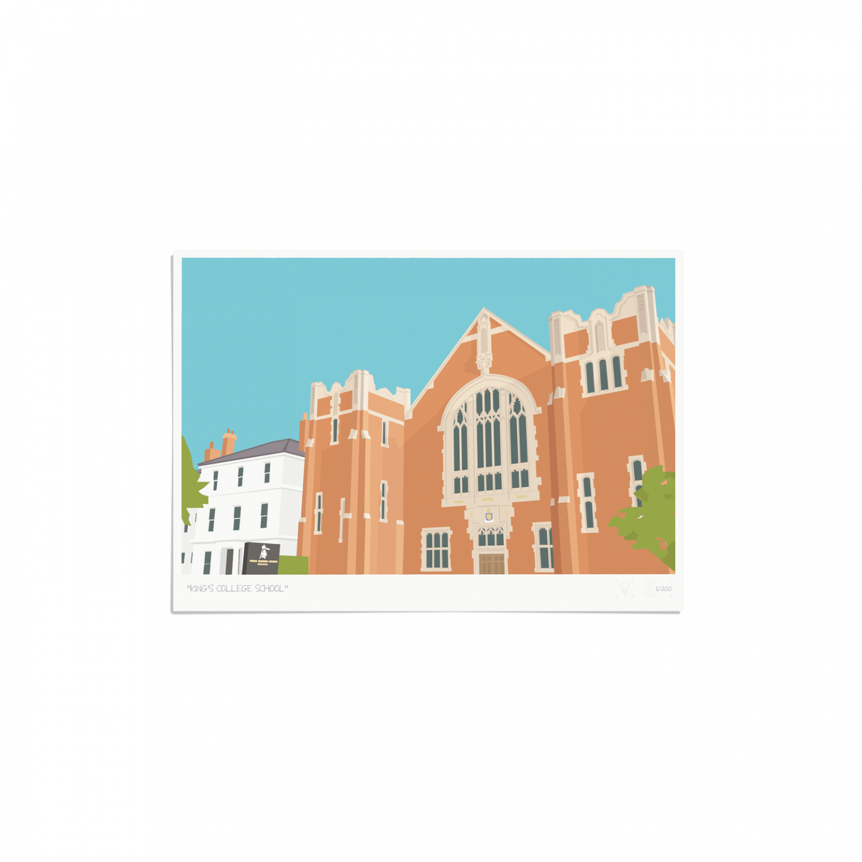 Place in Print King's College School Wimbledon Art Poster Print Unframed
