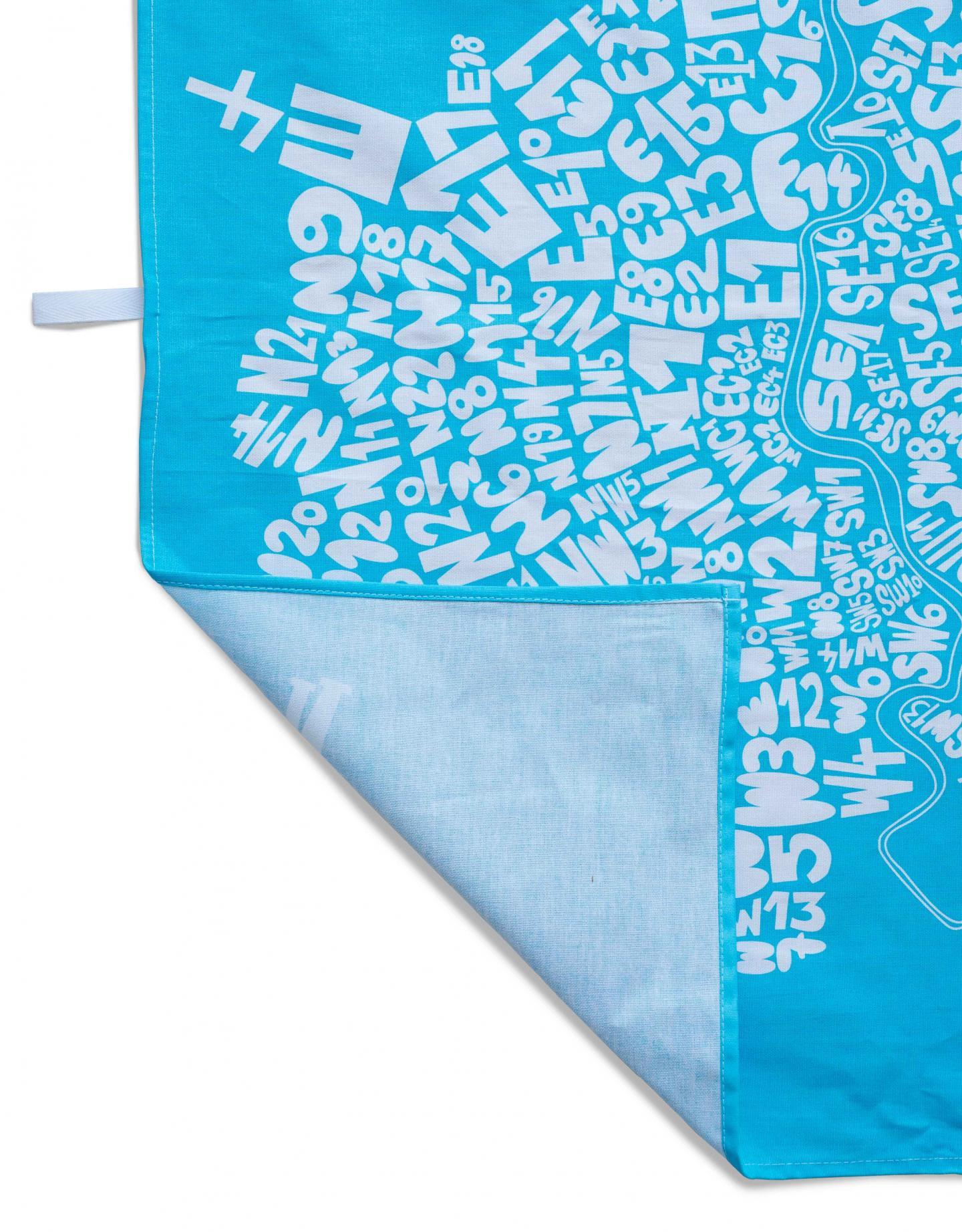 Place in Print South London Prints London Postcodes Tea Towel Blue
