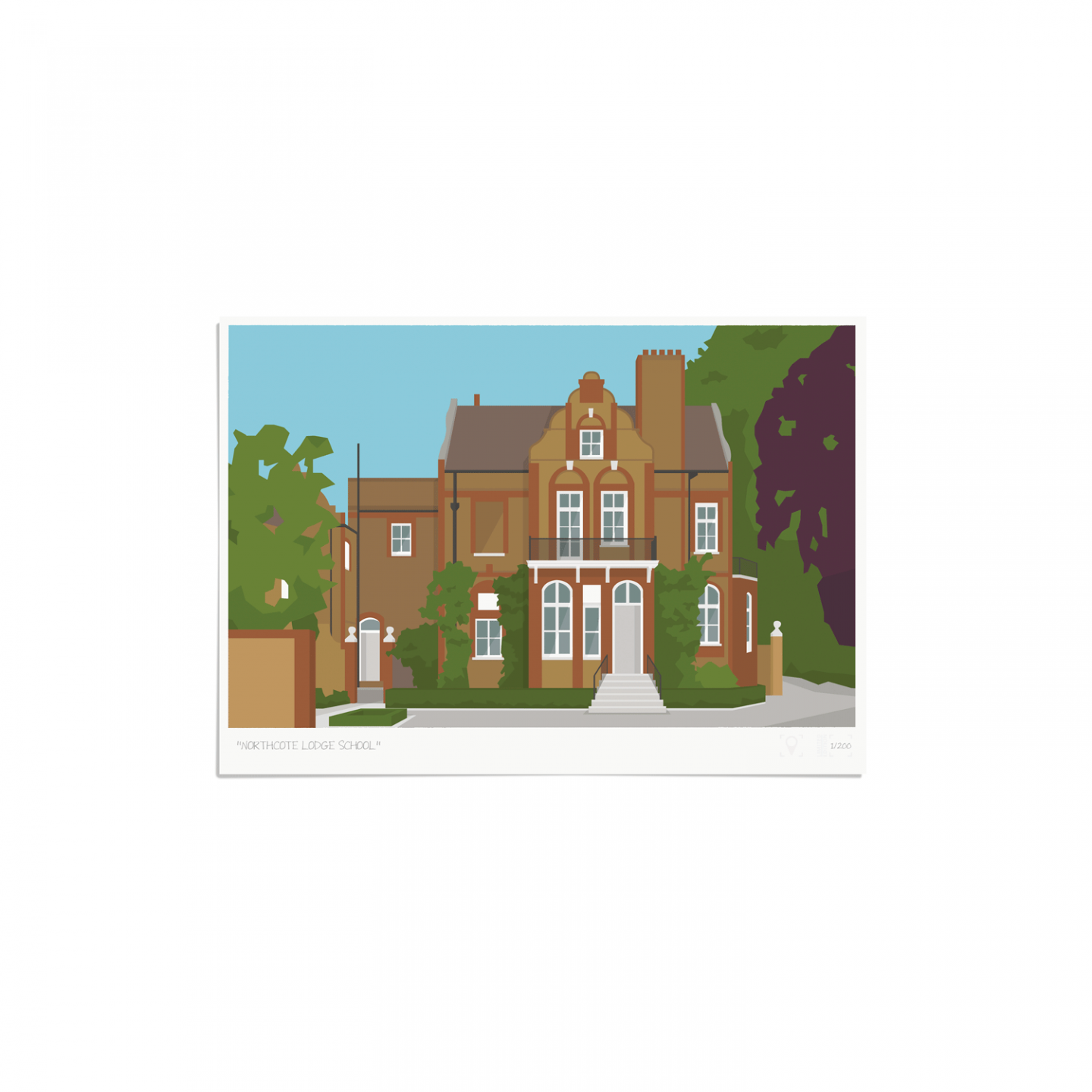 Place in Print Northcote Lodge School Art Poster Print Unframed