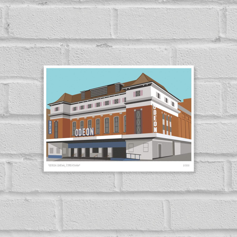 Place in Print Odeon Cinema Streatham Art Poster Print Unframed