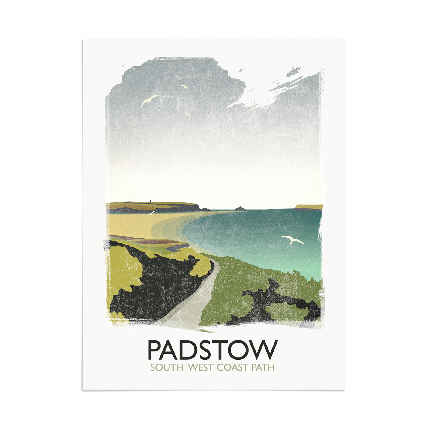 Place in Print Rick Smith Padstow Travel Poster Art Print 30x40cm Print-only