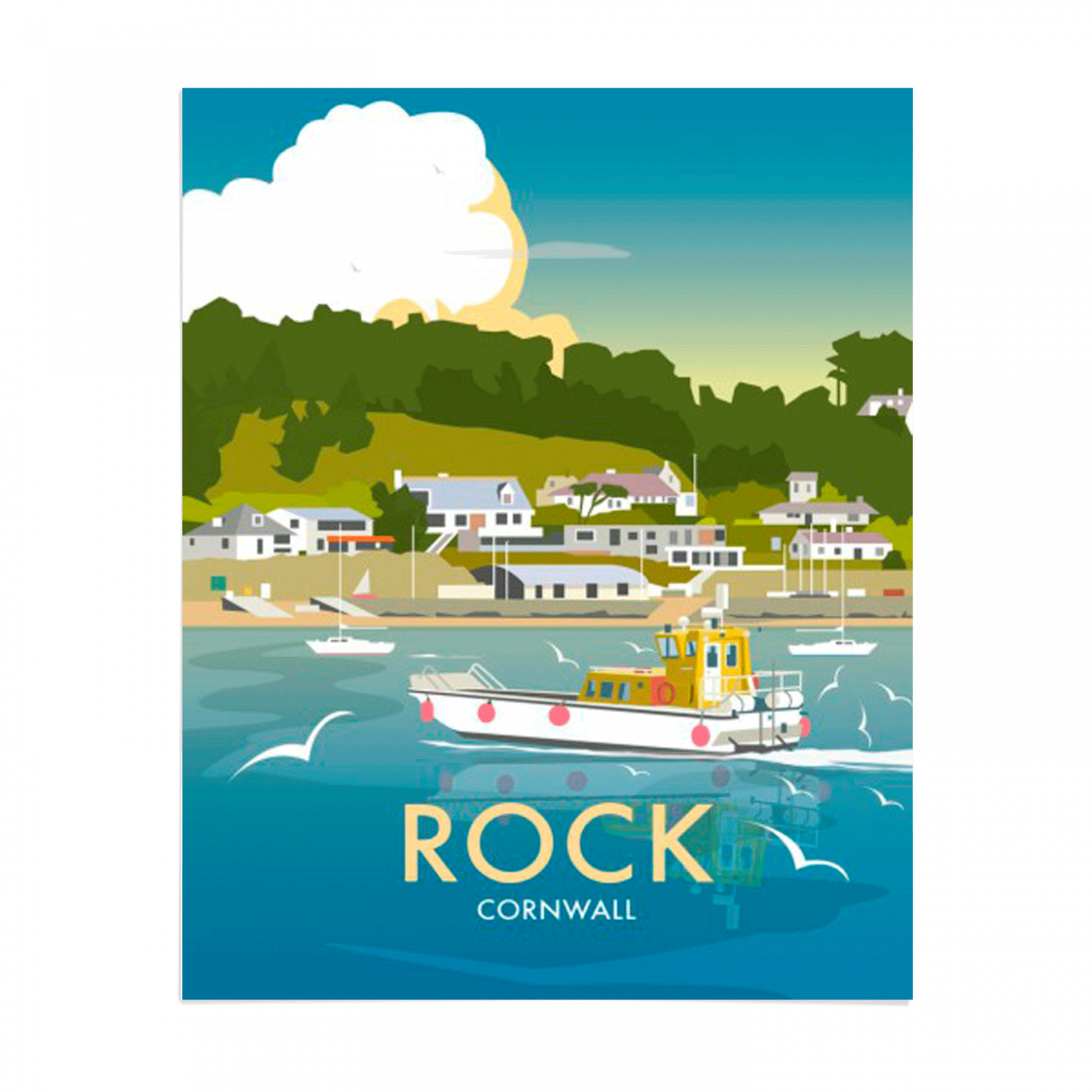 Place in Print Dave Thompson Rock Travel Poster Art Print Unframed